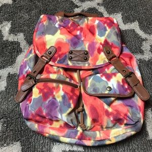 MOSSIMO SUPPLY CO Canvas Backpack Watercolor